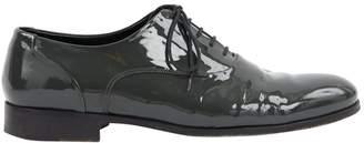 Valentino Grey Patent leather Flats