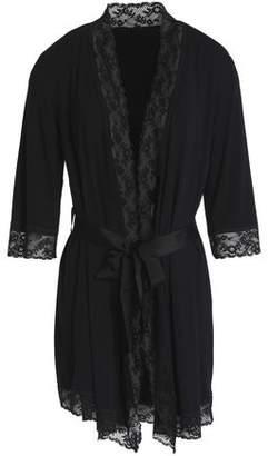 Mimi Holliday Lace-Paneled Jersey Robe