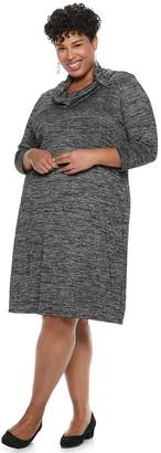Dana Buchman Plus Size Cowlneck Shift Dress