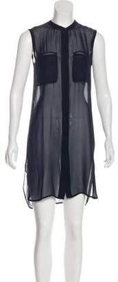 Vince Button-Up Mini Dress