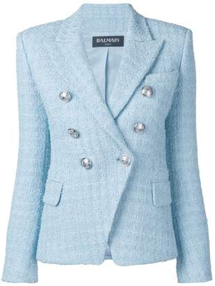 Balmain tweed-effect blazer jacket
