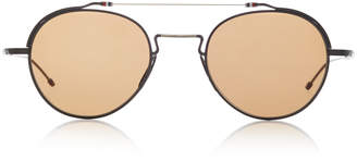 Thom Browne Sun Round-Frame Metal Sunglasses