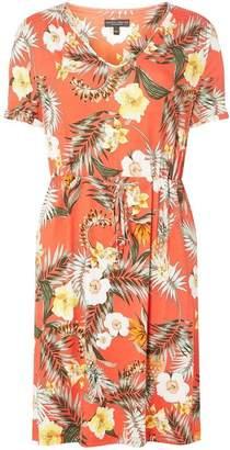 Dorothy Perkins Womens Blush Tropical Print T-Shirt Dress