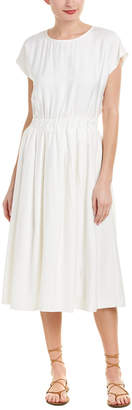 Moon River Pleated Midi Dress