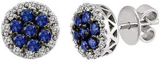 LeVian Le Vian 14K 0.89 Ct. Tw. Diamond & Ceylon Sapphire Studs