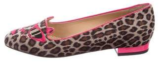 Charlotte Olympia x Barbie Pretty In Pink Kitty Velvet Loafers