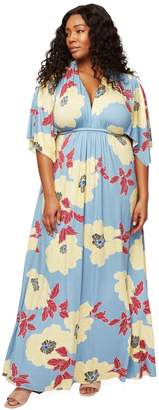 Long Caftan Dress - Bloom, Plus Size