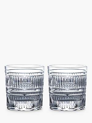 94d2891afc7d Royal Doulton R&D Collection Radial Crystal Cut Glass Tumblers, 290ml, ...