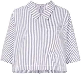 Thom Browne cropped striped T-shirt