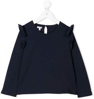 Piccola Ludo long-sleeve ruffle blouse