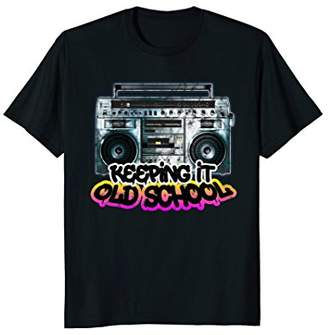 Keeping It Old School - Vintage Boombox 80s T-Shirt