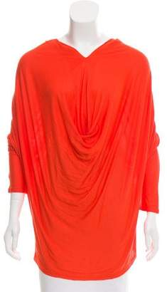 Alice + Olivia Long Sleeve Draped Top