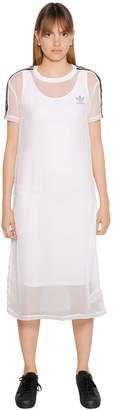adidas 3 Striped Techno Chiffon Layered Dress