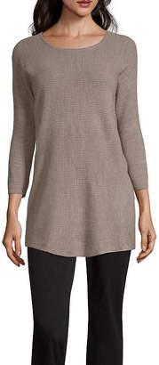WORTHINGTON Worthington Womens Scoop Neck Long Sleeve Pullover Sweater