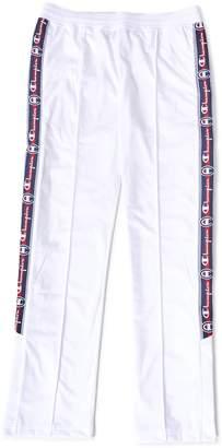 Champion Logo Stripe Sweatpants White