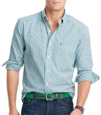 Izod Men's Essential Tattersal Long Sleeve Shirt