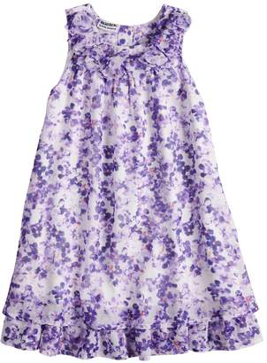 Girls 4-6x Blueberi Boulevard Watercolor Floral Chiffon Dress