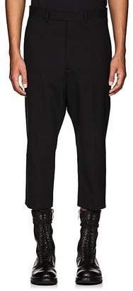 Rick Owens Men's Astaires Stretch-Wool Drop-Rise Crop Trousers
