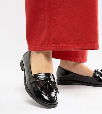 Asos Design Wide Fit Minkie Flat Shoes