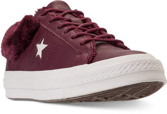 583659834b93 Converse Women One Star Ox Faux Fur Casual Sneakers from Finish Line