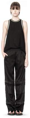 Alexander Wang (アレキサンダー ワン) - T By Alexander Wang Satin Track Pants With Leather Stripe Combo
