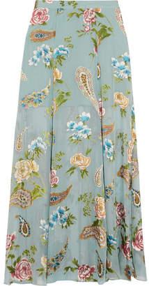 Alice + Olivia Alice Olivia - Athena Fil Coupé Maxi Skirt - Sky blue