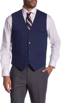 Co SAVILE ROW Leeds Blue Slim Fit Bi-Stretch Vest