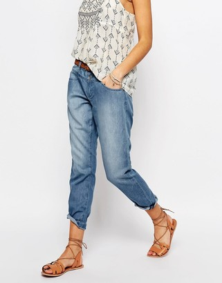 Esprit Chambray Slouchy Jeans $63 thestylecure.com