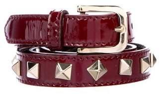 Burberry Embellished Patent Leather Belt