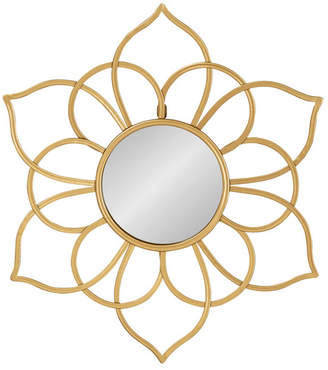 """Laurèl Kate and Brienne Metal Flower Round Wall Mirror - 24"""" x 21"""""""