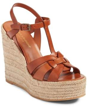 Saint Laurent Tribute Espadrille Wedge