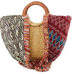 Sam Edelman Adira Straw Paper Basket Satchel Bag