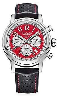 Chopard Mille Miglia Racing Colors Stainless Steel & Leather Strap Watch