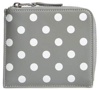 Comme des Garcons Dots Printed Leather Line Wallet