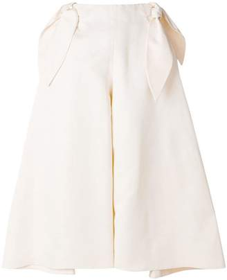 DELPOZO bow detail wide trousers