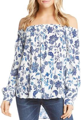 Karen Kane Floral-Print Off-the-Shoulder Top