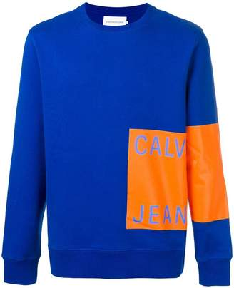 Calvin Klein Jeans block logo sweatshirt
