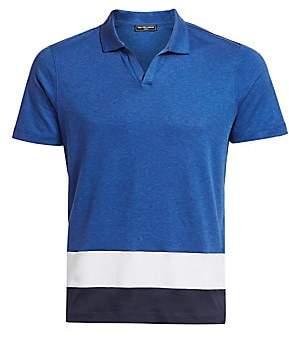 Saks Fifth Avenue Men's MODERN Colorblock Polo Shirt