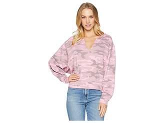 Sanctuary Breslin Split-Neck Sweatshirt Women's Sweatshirt