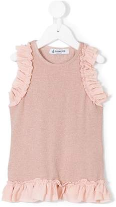 Dondup Kids ruffled sleeveless blouse