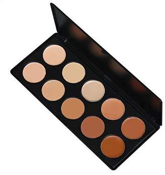 Bill Blass Amazing2015 Pro Mixed 10 Color Cream Concealer Palette Foundation Makeup Set Cover Speckled Freckle Face Contouring Kit by Amazing2015