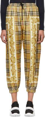 Burberry Beige Antique Scarf Print Yewbury Lounge Pants