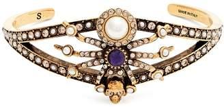 Alexander McQueen Embellished spider cuff