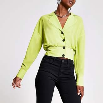 River Island Womens Green long sleeve shackett