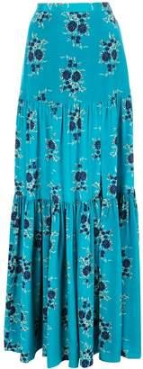 Veronica Beard floral maxi skirt