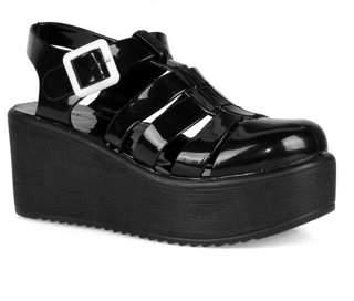 8c5ea3495e40 Nature Breeze caged Jelly Platform Women's Sandals in Black