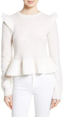 Women's La Vie Rebecca Taylor Ruffle Sweater $325 thestylecure.com