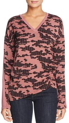 Kenneth Cole Camo-Print Top