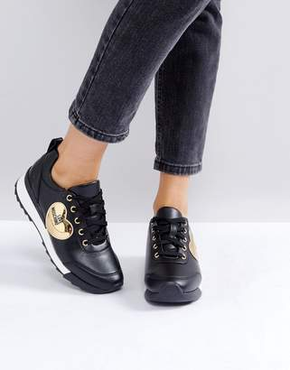 Love Moschino Gold Heart Sneakers