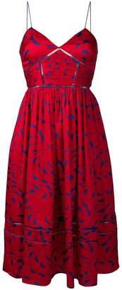 Self-Portrait patterned flared dress